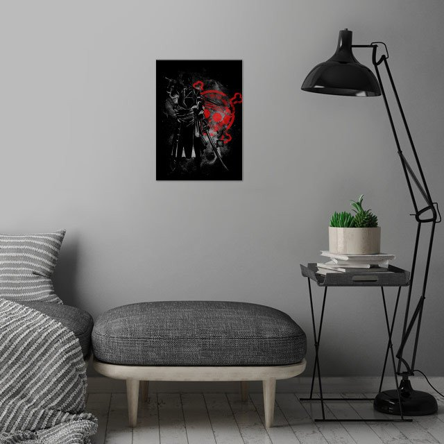 Space Pirate Hunter wall art is showcased in interior