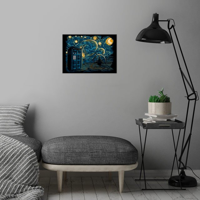 Starry Gallifrey wall art is showcased in interior