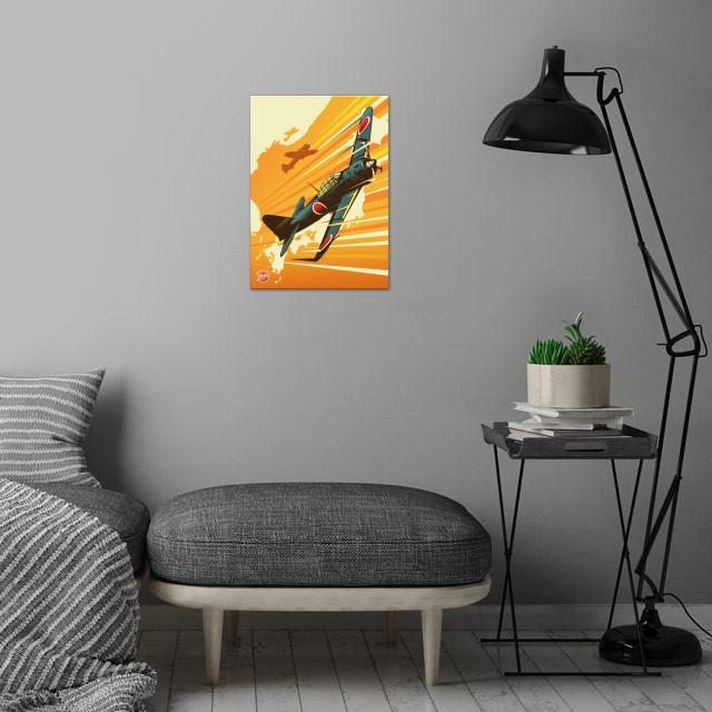 Zero wall art is showcased in interior