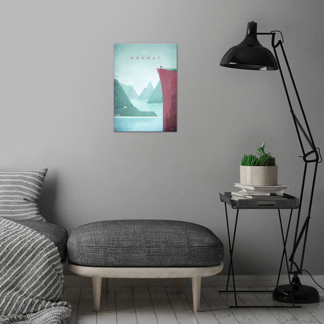 Norway wall art is showcased in interior
