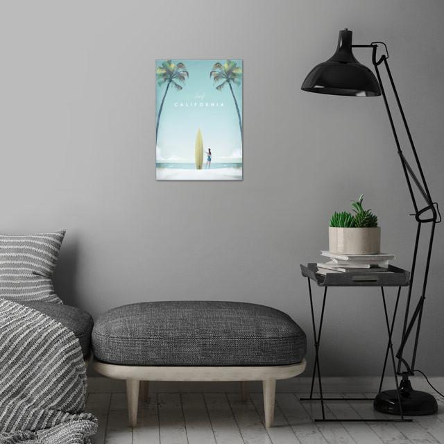 California wall art is showcased in interior