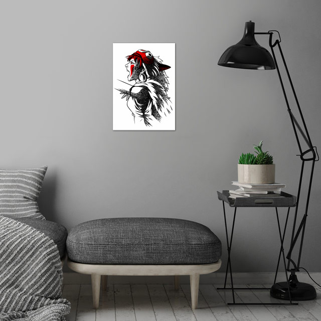 Princess attack wall art is showcased in interior