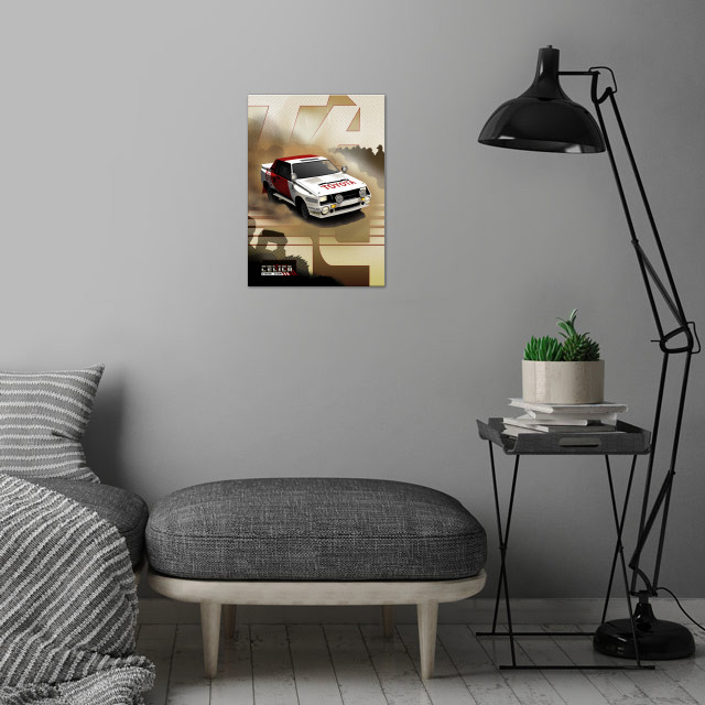 Toyota Celica Twin-Cam Turbo wall art is showcased in interior