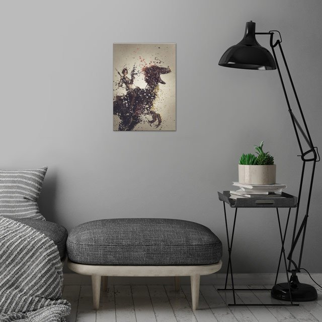 Ark version one,  splatter effect artwork. wall art is showcased in interior