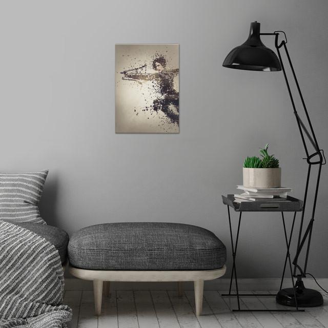 Ark version three,  splatter effect artwork. wall art is showcased in interior