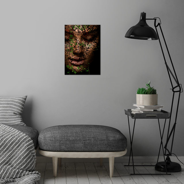 GAIA - Mother Nature wall art is showcased in interior