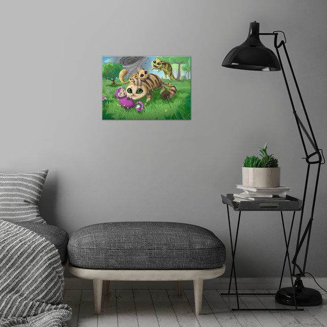 Critters Family wall art is showcased in interior