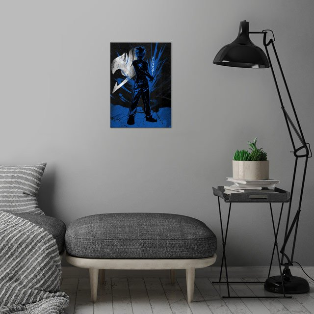 Heroic Ice Slayer Gray wall art is showcased in interior