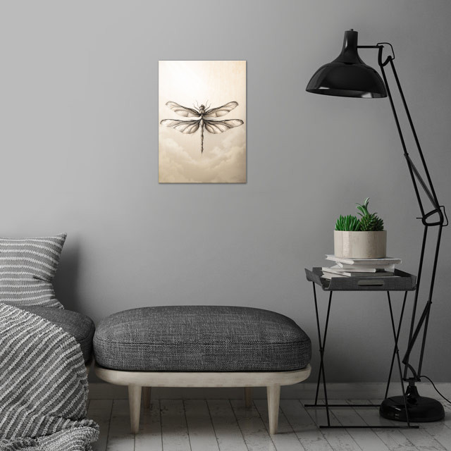 Libélula wall art is showcased in interior