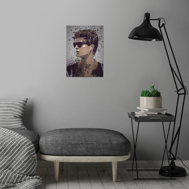 Baby Splatter Effect, Baby Driver wall art is showcased in interior
