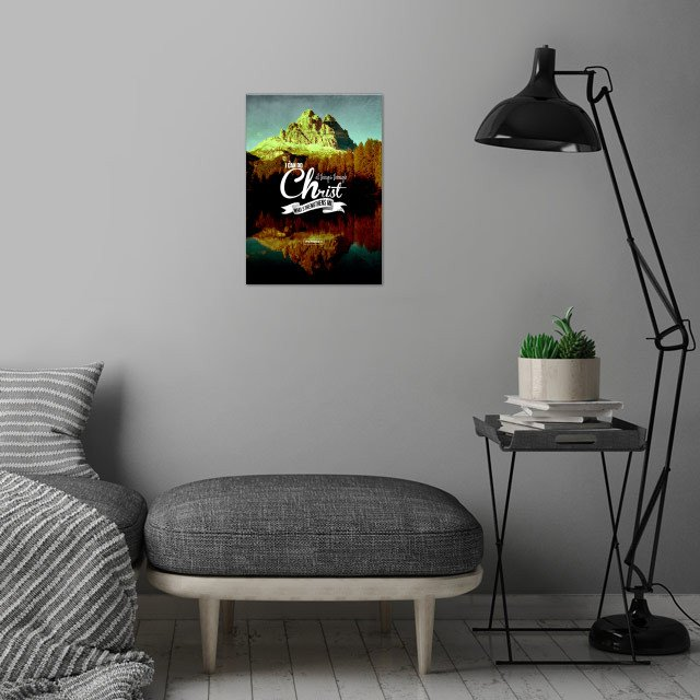 Philippians 4:13 wall art is showcased in interior