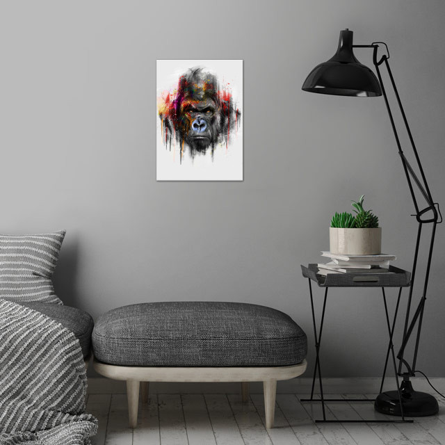 Gorilla (Alpha Series) wall art is showcased in interior