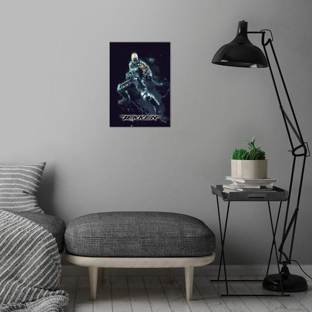 Raven / Tekken / Renegade  wall art is showcased in interior