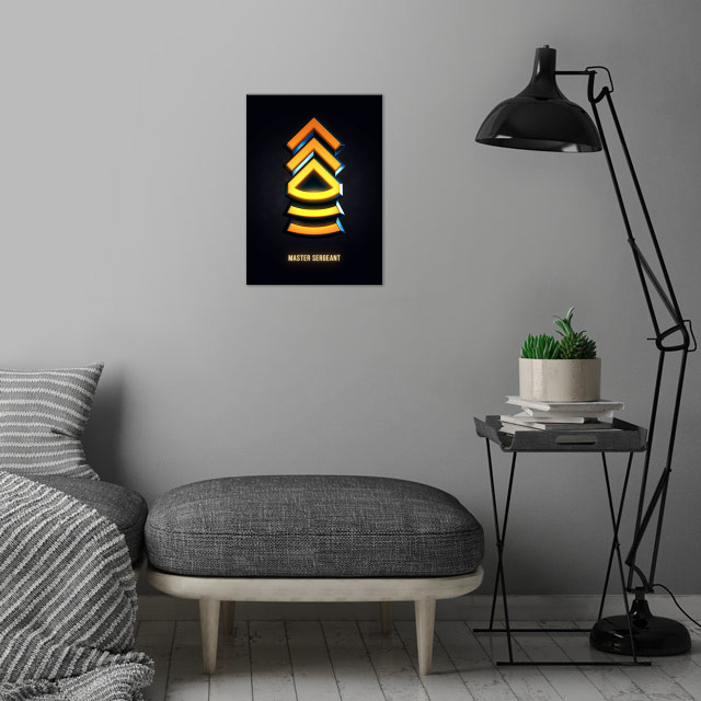 Master Sergeant - Military Insignia 3D wall art is showcased in interior