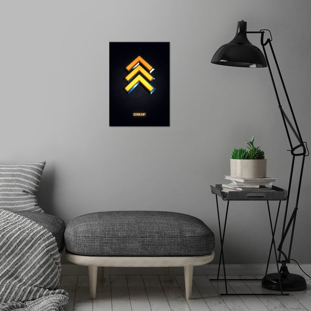 Sergeant - Military Insignia 3D wall art is showcased in interior