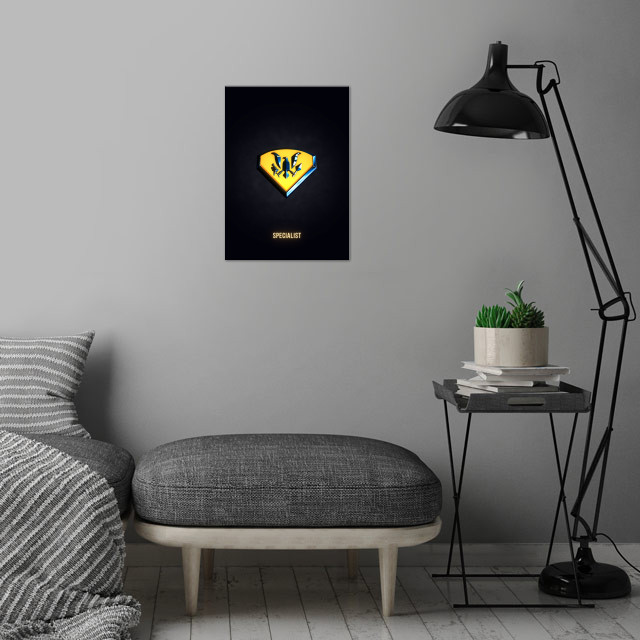 Specialist - Military Insignia 3D wall art is showcased in interior
