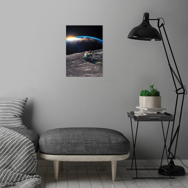 Me Time  wall art is showcased in interior