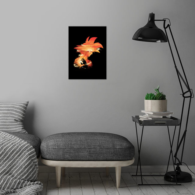The First Super Saiyan wall art is showcased in interior