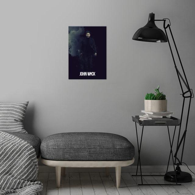 John Wick / Renegade wall art is showcased in interior