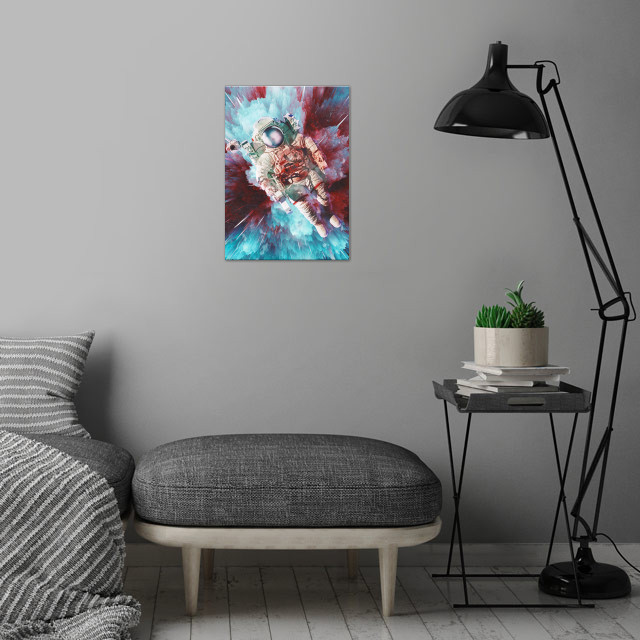 Chroma Void  wall art is showcased in interior