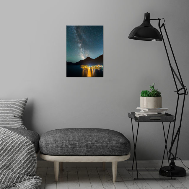 Waterton under the Stars wall art is showcased in interior