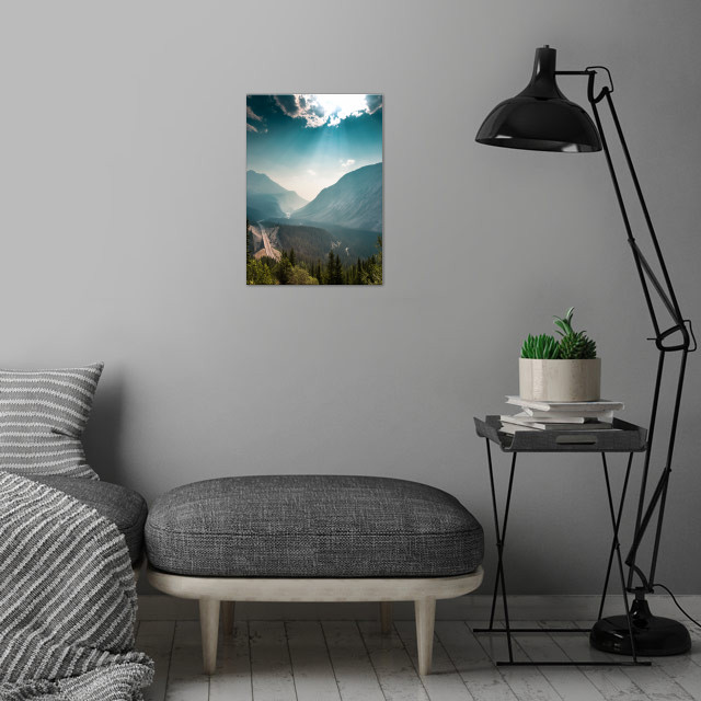 Rocky Mountain Road wall art is showcased in interior