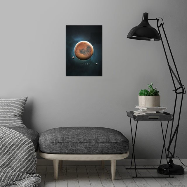 A Portrait of the Solar System: Mars wall art is showcased in interior