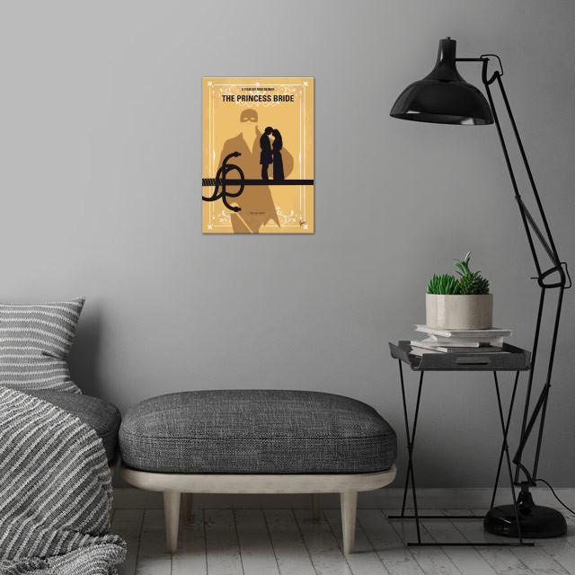 No877 My The princess bride minimal movie poster wall art is showcased in interior