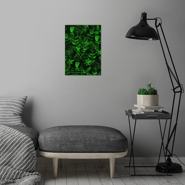 Abstract Botanical Garden wall art is showcased in interior