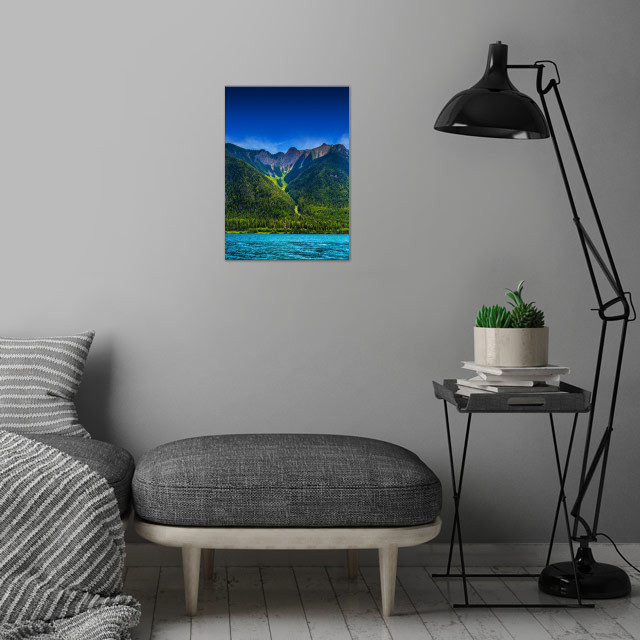 Valley View wall art is showcased in interior