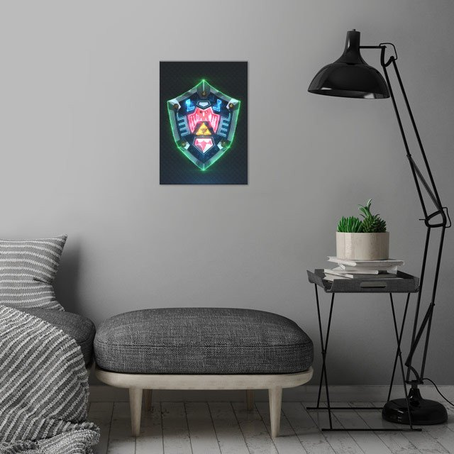 3D Hylian Shield Majora's Mask. wall art is showcased in interior