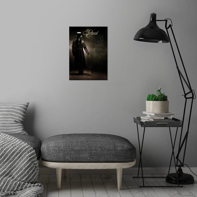 Greed wall art is showcased in interior