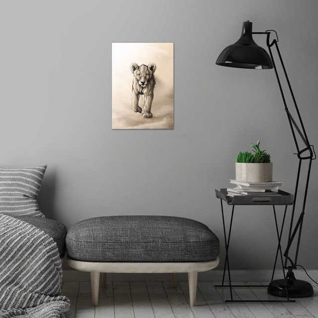 Little Lion wall art is showcased in interior