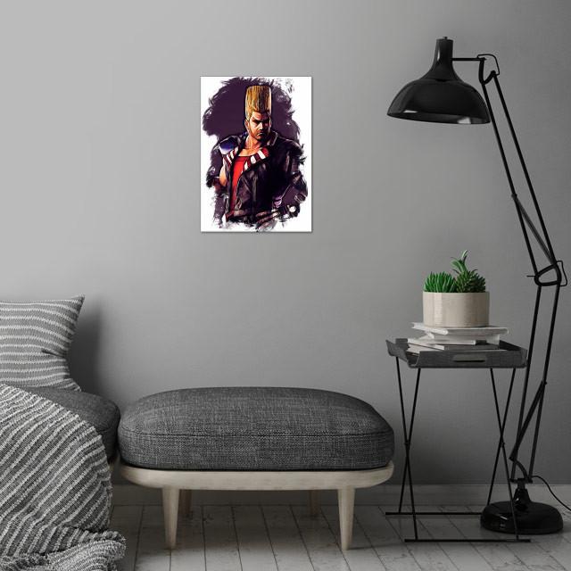 Paul Phoenix - sketch wall art is showcased in interior