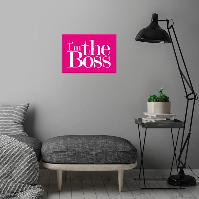 Boss wall art is showcased in interior