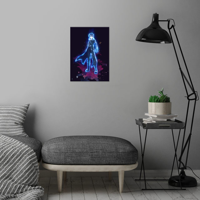 Kirito / Sword Art Online  / SAO / Renegade  wall art is showcased in interior