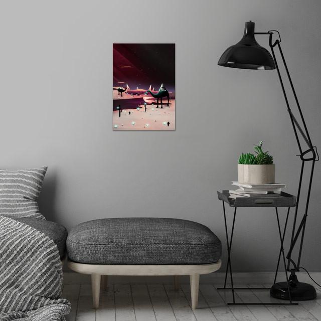 Watering the Desert | Digital Art, 2018 wall art is showcased in interior