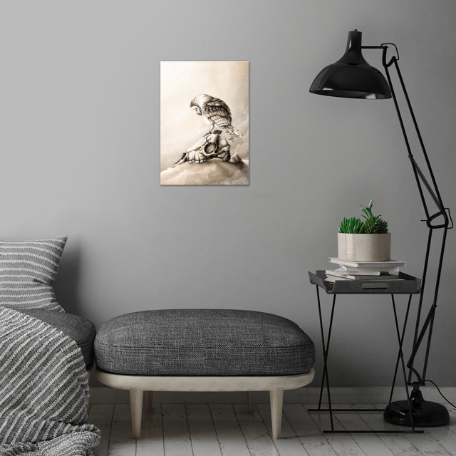 The Resistance wall art is showcased in interior