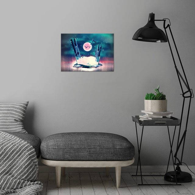 Moon Wash | Digital Art, 2018 wall art is showcased in interior