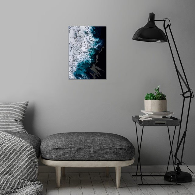 Abstract art wall art is showcased in interior