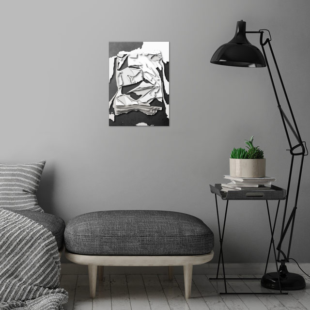 Abstract shapes  wall art is showcased in interior
