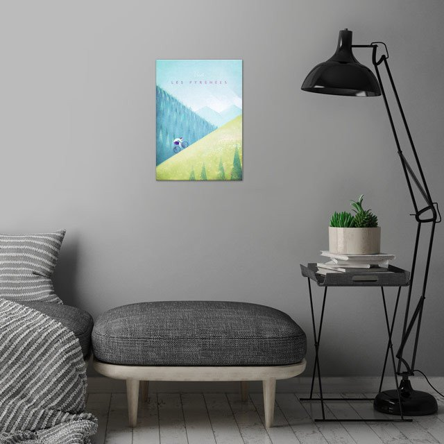 Pyrenees wall art is showcased in interior