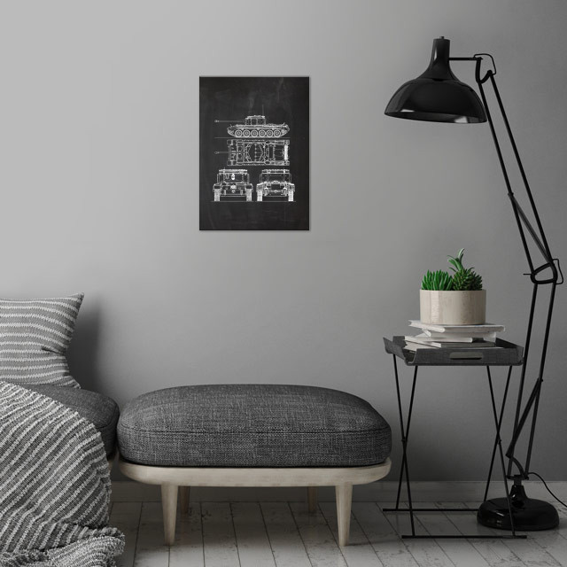Cruiser MK VII Challenger wall art is showcased in interior