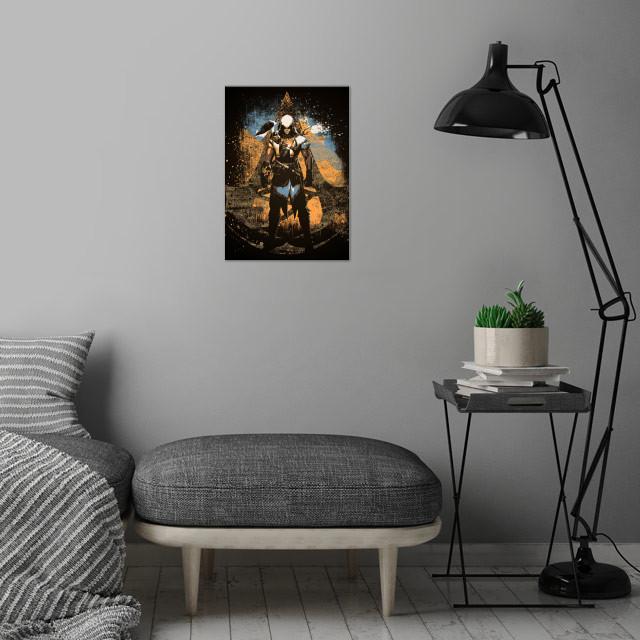 Original Assassin wall art is showcased in interior