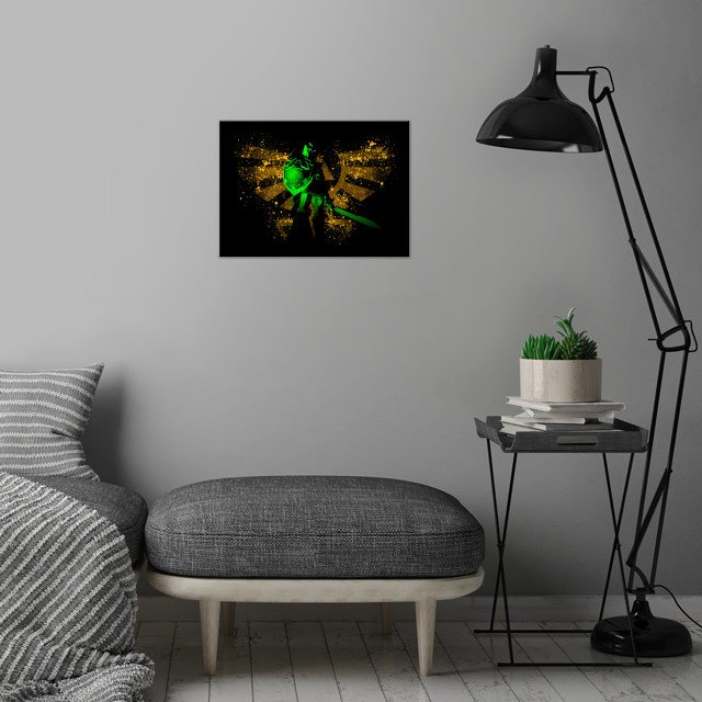 The Legend wall art is showcased in interior