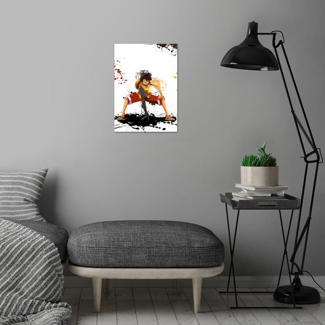 Luffy / Onepiece / Splash Art wall art is showcased in interior
