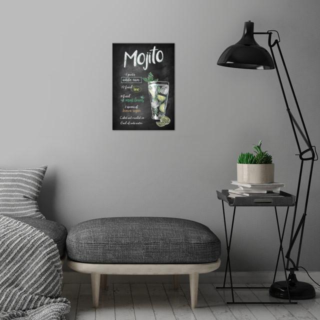 Mojito wall art is showcased in interior