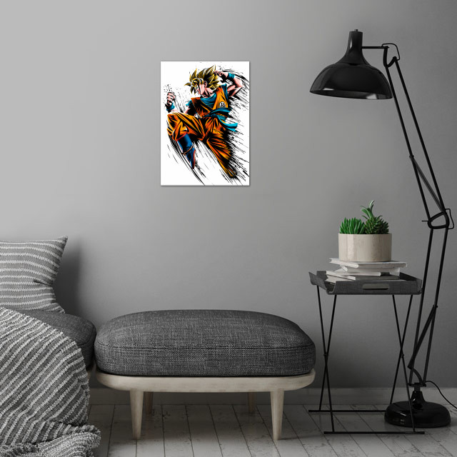 Speed Ink wall art is showcased in interior