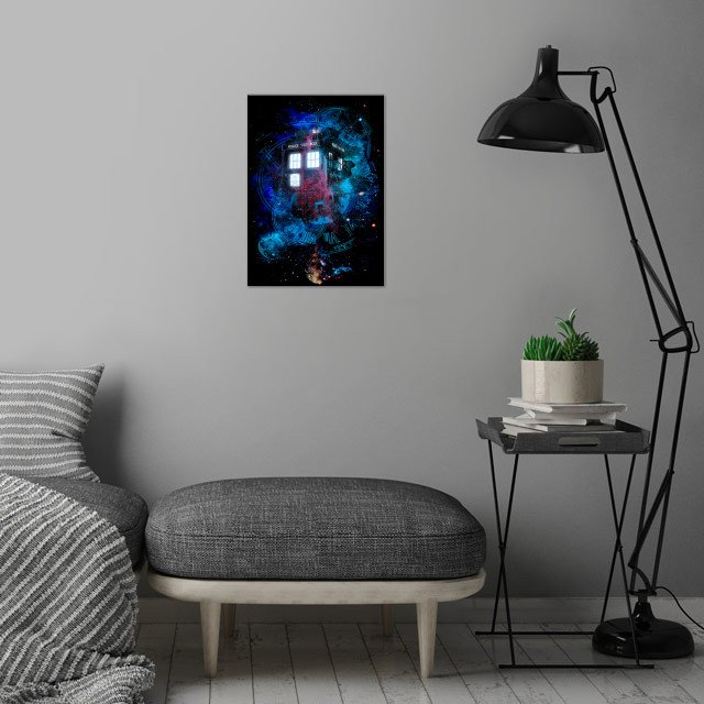 Time and Space wall art is showcased in interior