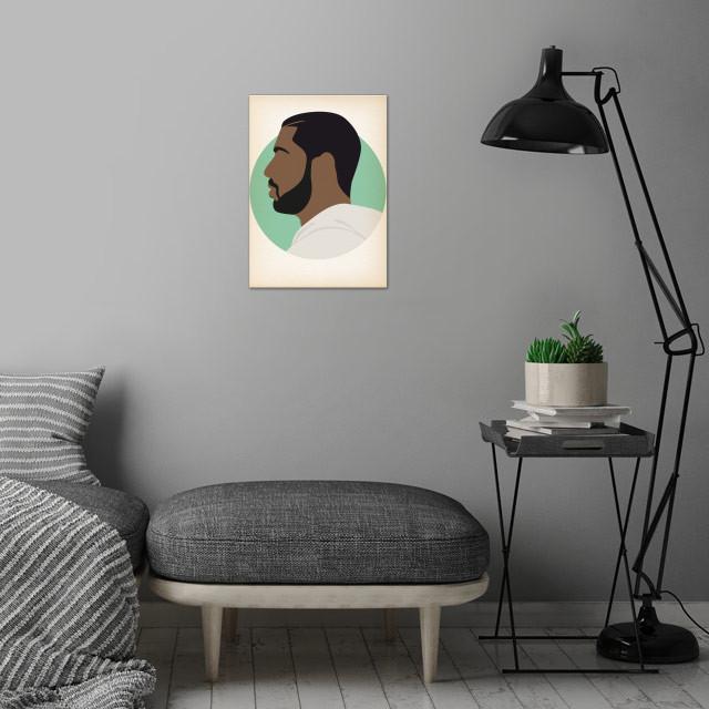 Drake - Hip Hop Heads Minimalist wall art is showcased in interior
